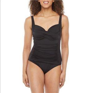 Liz Claiborne Black One Piece Swimwear